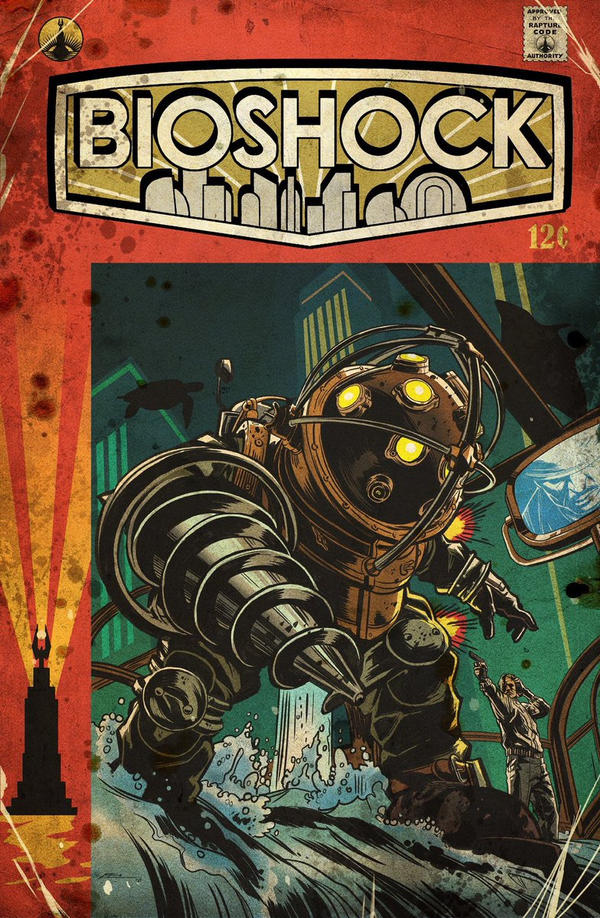 BioShock vintage comic cover by E-Mann