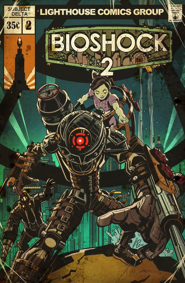 BioShock 2 Vintage Comic Cover by E-Mann