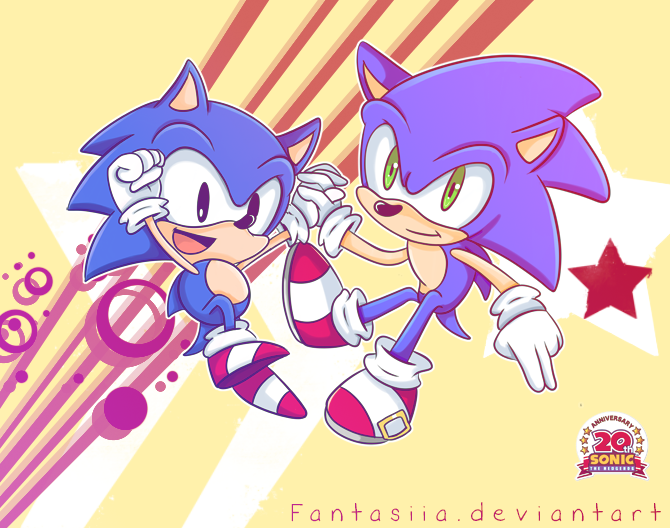 Happy 20th Birthday Sonic by Fumuu