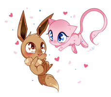 Eeve and Mew