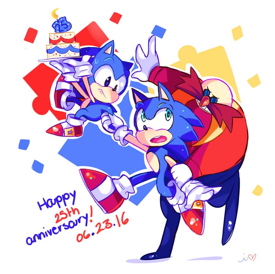 Happy 25th Anniversary Sonic! by Ipun