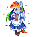 MLP Maid Series:/ Rainbow Dash