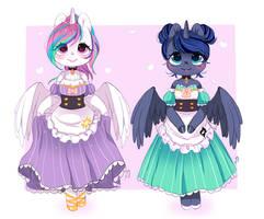 Friendship Cafe - Luna and Celestia