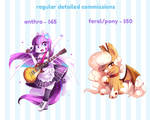 Detailed Commissions - OPEN -