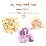 Cozy Pastel Pony Sketch Sheets -CLOSED