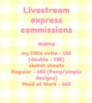 LiveStream Commissions - PRESALE -