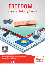 Digicel Monopoly Ad Freedom by jlampley