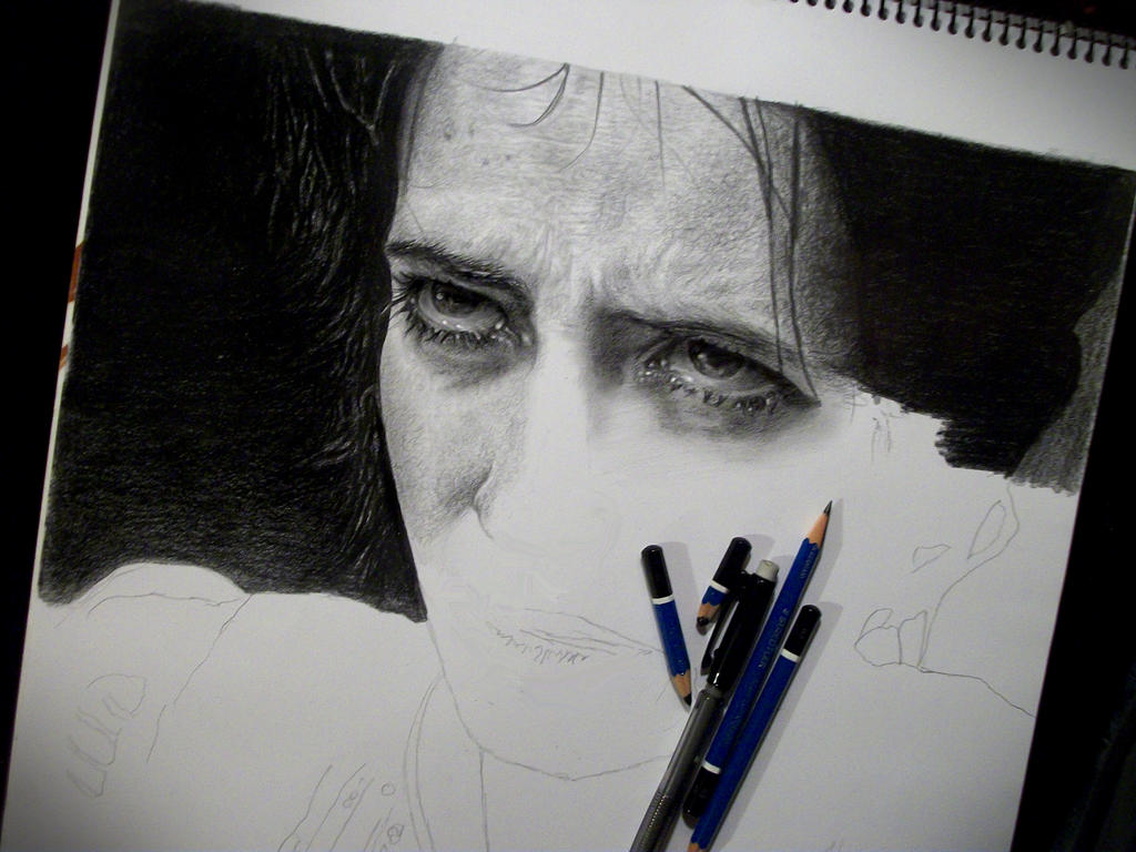 Vanessa Ives Portrait Process 1 by andresarte