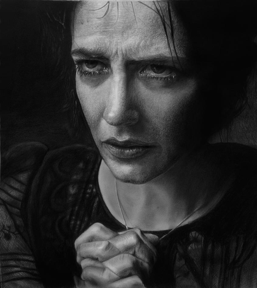 Vanessa Ives Portrait Drawing by andresarte