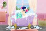 Lyra and Bon Bon - Bubble bath