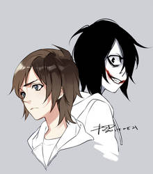 Jeff and The Killer by PSlenDy