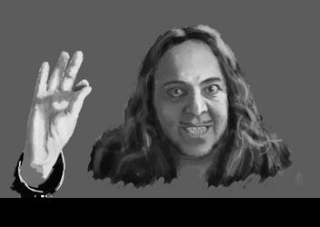 (looks like) Daron Malakian by bottlebrutha