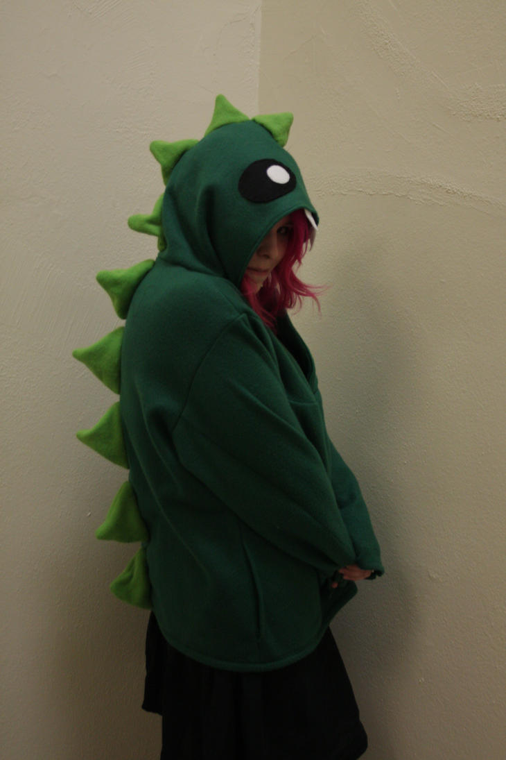 Dinosaur Hoodie - Side View by StudioSandM