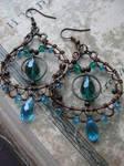 Eastern Filigree  Wire Wrapped earrings