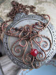 Ornate Filigree Wire Necklace by Lirimaer86