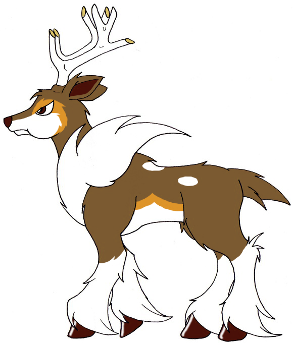 pokemon sawsbuck winter coloring pages - photo#15