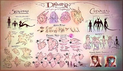 Daimons: Semi-Open Species Guide by Alkemistry