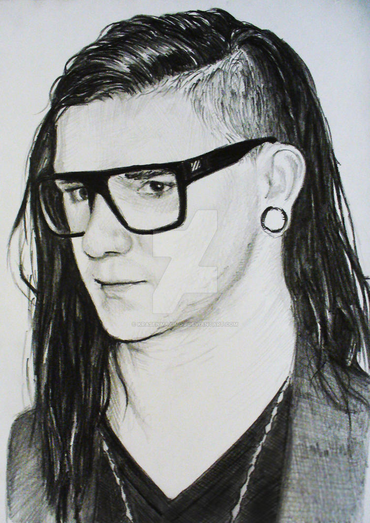 HOW TO DRAW A SKRILLEX CUTE, Easy step by step drawing ... |Skrillex Drawings Easy