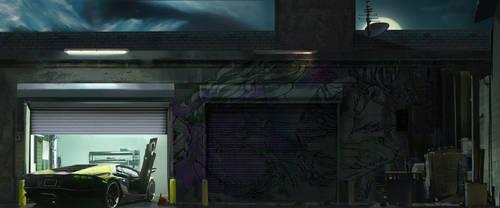 Hideout garage scene