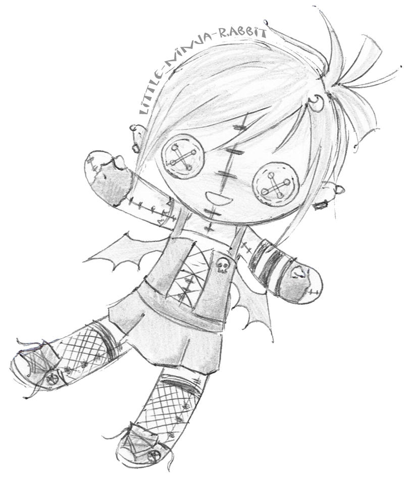 Childrens coloring sheet of a rag doll - Rag Doll Drawings Images Pictures Becuo