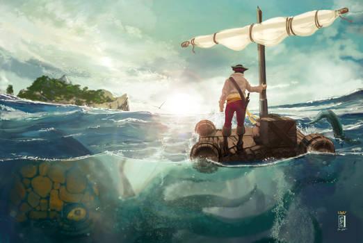 -- Under the raft --
