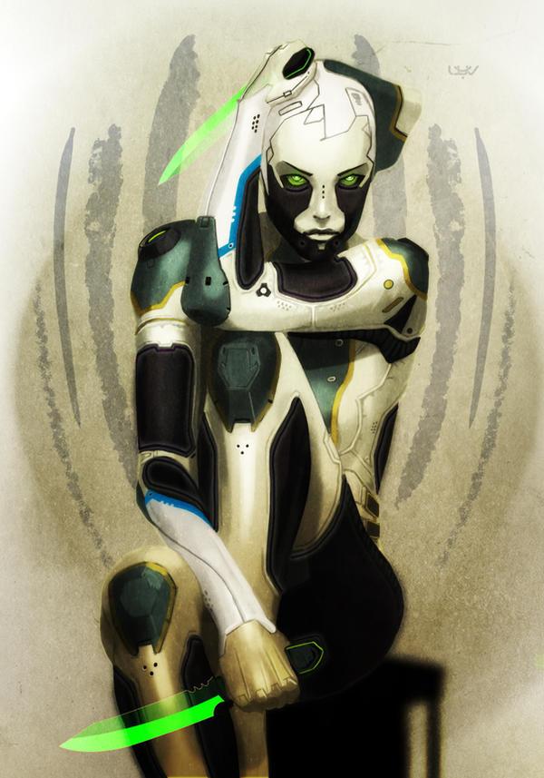 -- Green eyes -- by wyv1