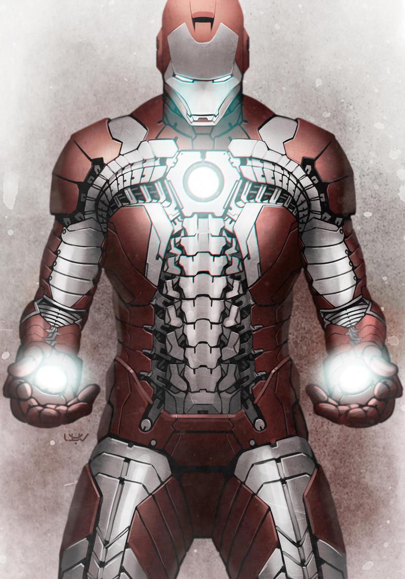 Comics Forever, Iron Man: Mark V // artwork by Yvan Quinet ...  Comics Forever,...