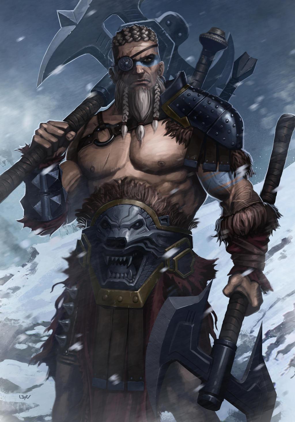 -- Barbarian -- by wyv1