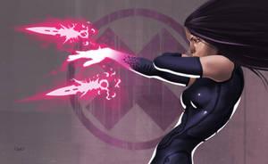 -- Psylocke -- by yvanquinet