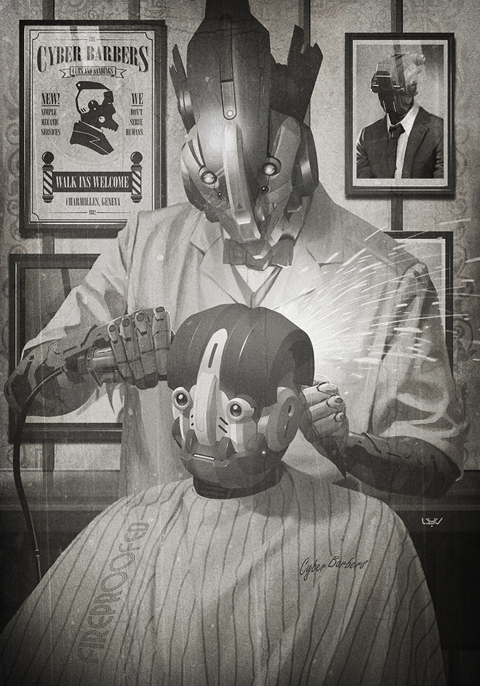-- Cyber Barbers -- by yvanquinet