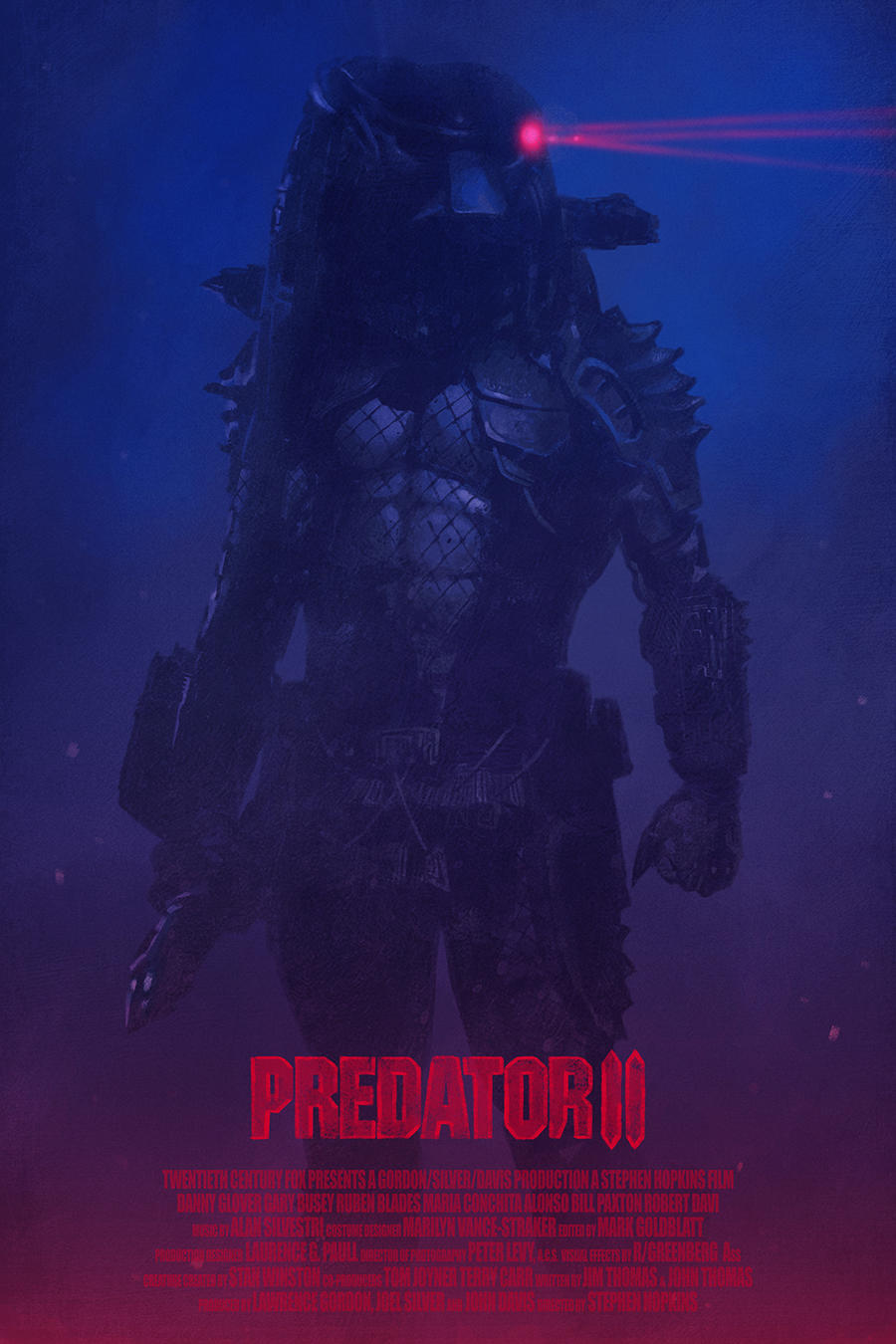 predator 2 movie poster by yvanquinet