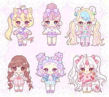 [Adopts] Pretty Girls (CLOSED) by nyanami
