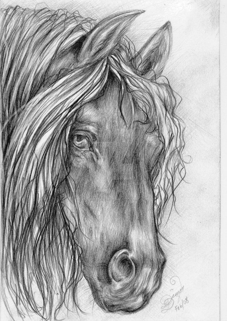 Horse Drawing 1 - Sleepy Eyes by BlackAngel-Diana on ...