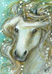 Luminous - Unicorn ACEO