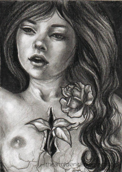 Beauty and Pain ACEO by BlackAngel-Diana