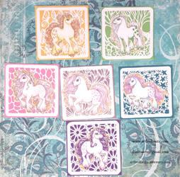 My little pony vinyl stickers G1 1982