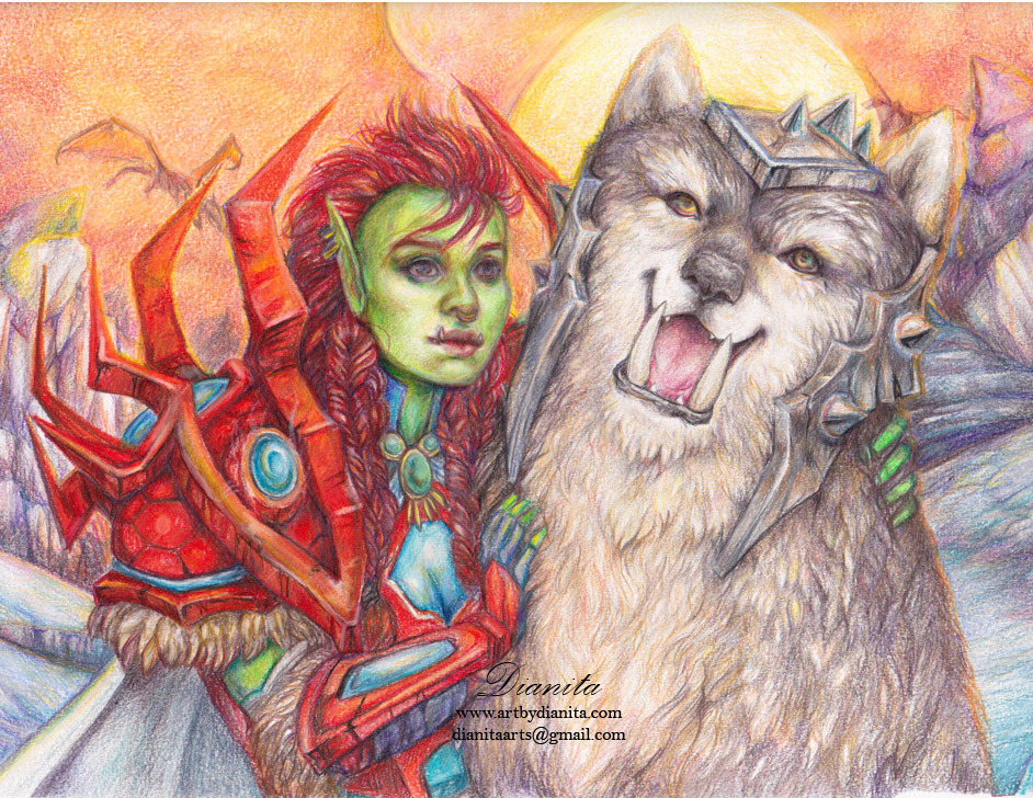 Daruh and Roun WoW custom portrait by BlackAngel-Diana
