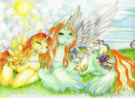 Family together... by BlackAngel-Diana