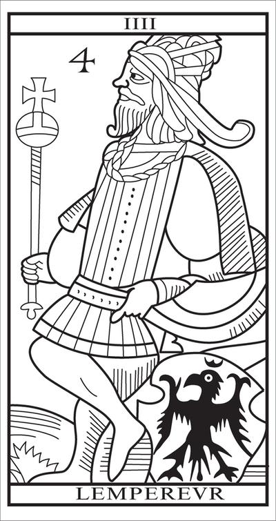 tarot card iv l 39 empereur by dcases on deviantart. Black Bedroom Furniture Sets. Home Design Ideas