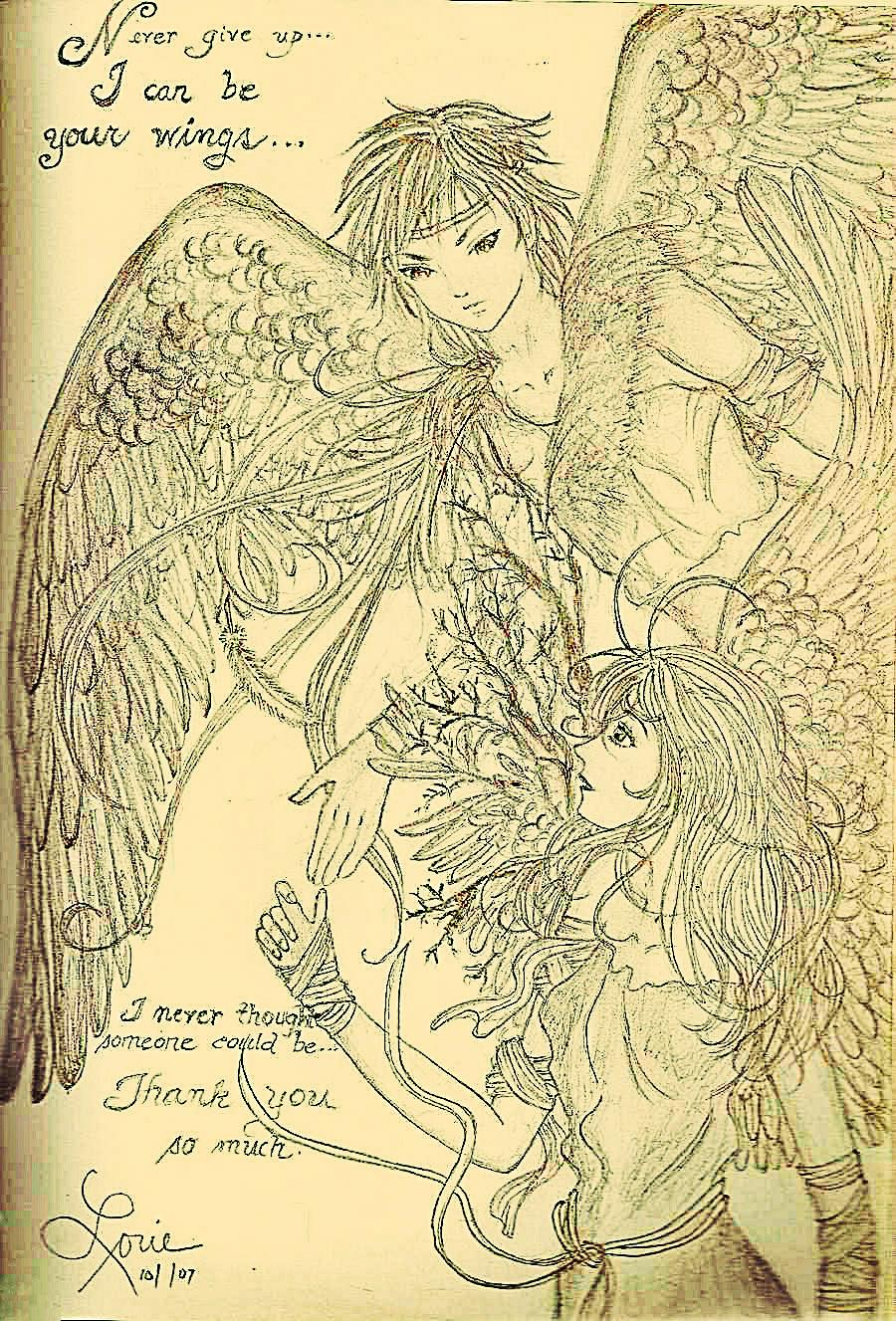 Very old pencil sketch-real version of Fallen... by eirol87