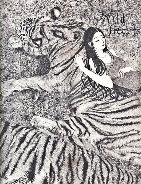 Wild Hearts-Pencil Drawing by eirol87