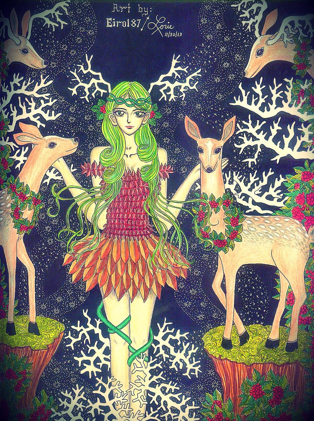 Deer Nymph: Verdeena by eirol87
