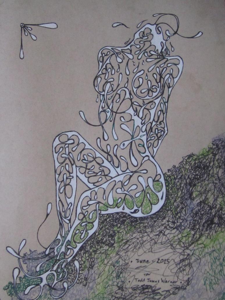 untitled Drip lady by warnertoddjames