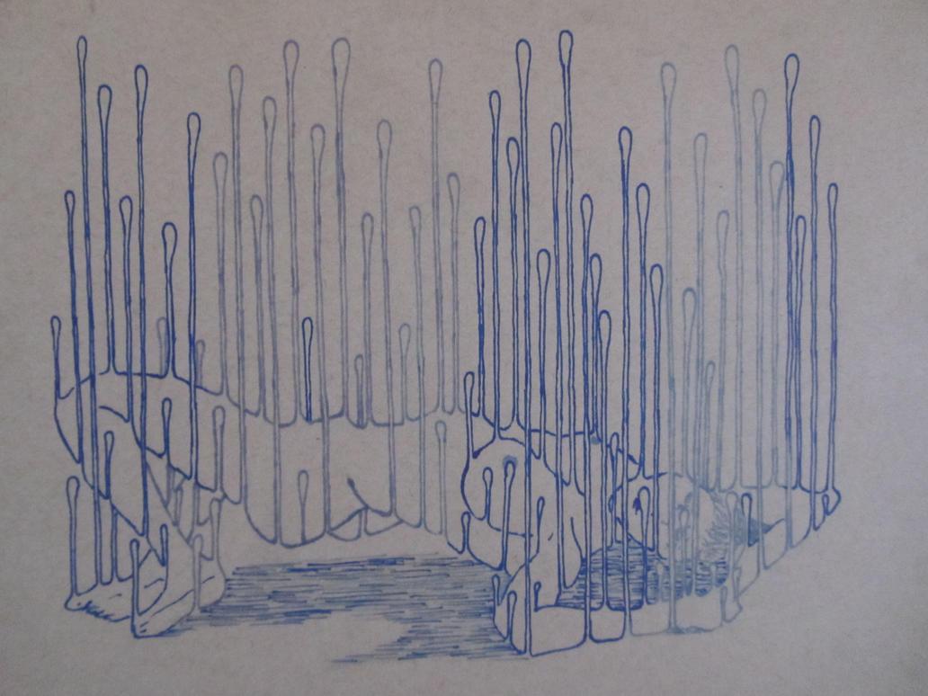 untitled drip......in blues by warnertoddjames