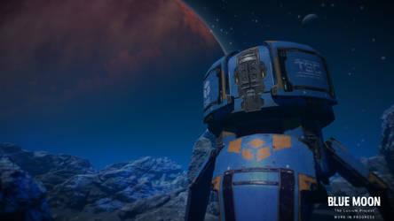 Ytrya, the blue moon