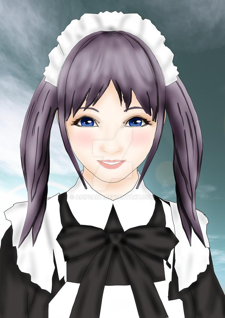 Manga Girl by AoifeArt