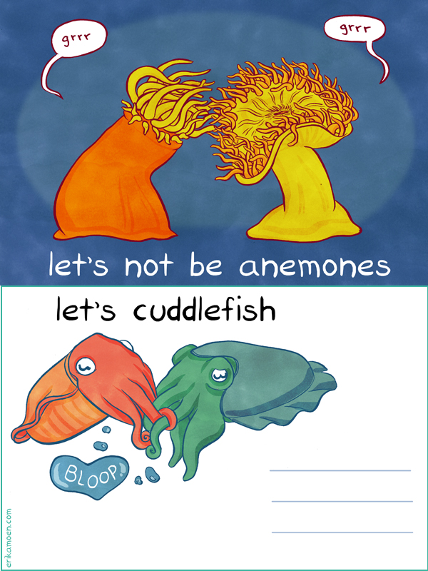 let's not be anemones...