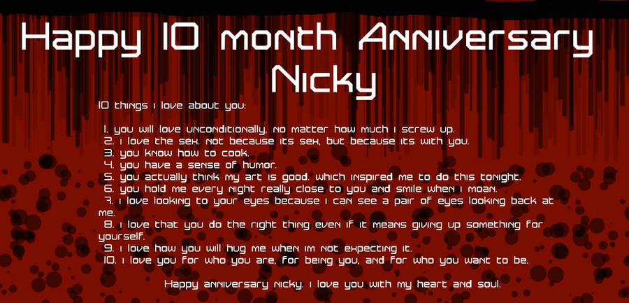 Happy 10 month anniversary by xana-1