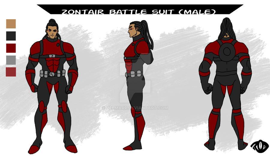 Zontair Battle Suit Male By Zelmarr On DeviantArt