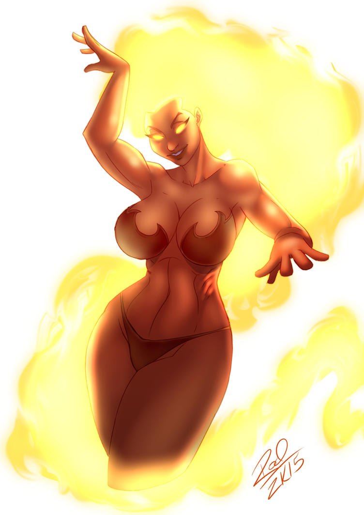 Fire lady by Zelmarr